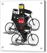 Cycling Recycle Bins Acrylic Print
