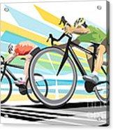 Cycling Sprint Poster Print Finish Line Acrylic Print