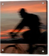Cyclist In Motion Acrylic Print
