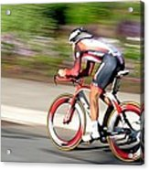 Cyclist Time Trial Acrylic Print