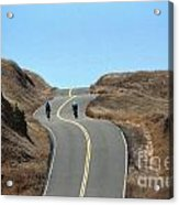Cyclists In Marin Acrylic Print by Chris Selby