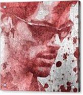 Cyclops X Men Paint Splatter Acrylic Print