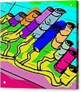 Cylinder Divergence Acrylic Print