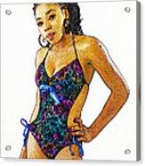 Cynthia 3 Acrylic Print