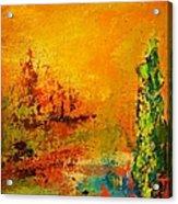 Cypress Gold Acrylic Print