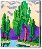 Cypress River Acrylic Print