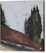 Cypress Tree And Roof Top Acrylic Print