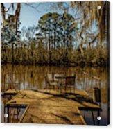 Cypress Trees At Caddo Lake State Park Acrylic Print
