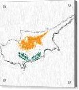 Cyprus Painted Flag Map Acrylic Print
