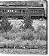Cyrus K  Holliday Private Rail Car Bw Acrylic Print