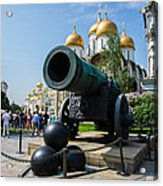 Czar Cannon Of Moscow Kremlin - Featured 3 Acrylic Print