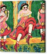 Czardas Dancers, 1908-20 Acrylic Print
