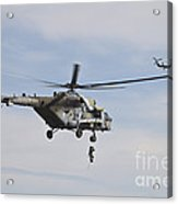 Czech Air Force Mi-171 Hips Training Acrylic Print