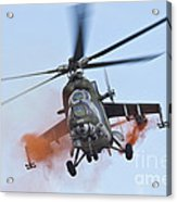 Czech Air Force Mi-35 Hind Helicopter Acrylic Print