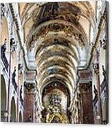 Czech Rep.. Prague. Church Of St Jacob Acrylic Print