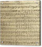 Czech Republic Prague Symphony No. 38 In D Major Called Prague Symphony Acrylic Print