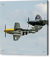 D-day Airshow Duo Spitfire And Mustang Acrylic Print