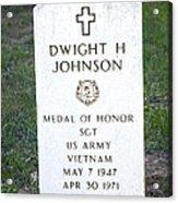 D. H. Johnson - Medal Of Honor Acrylic Print