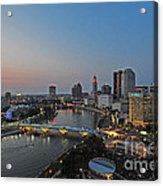 D2l448 Columbus Ohio Night Skyline Photo Acrylic Print