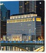 D2l496 Columbus Ohio Night Skyline  Acrylic Print