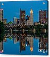 D2l64 Columbus Ohio Skyline Acrylic Print