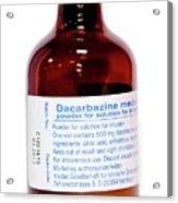 Dacarbazine Anti-cancer Drug Acrylic Print