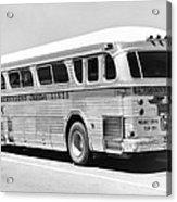 Dachshound Charter Bus Line Acrylic Print