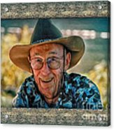 Dad In Cowboy Mood Acrylic Print