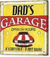 Dad's Garage Acrylic Print