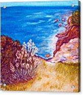 Daffodils At The Beach Acrylic Print