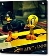 Daffy Tweety And Johnny Acrylic Print