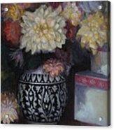 Dahlias Acrylic Print by Susan Hanlon