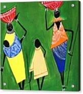 Daily Chores Acrylic Print by Shruti Prasad