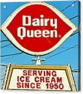 Dairy Queen Sign Acrylic Print