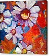 Daisies And Strawberries 2014 Acrylic Print