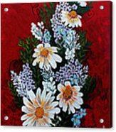Daisies Lilacs And Forget Me Nots Acrylic Print