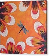 Daisy And Dragonfly Acrylic Print