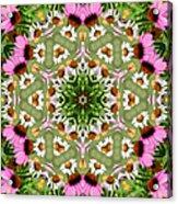 Daisy Daisy Do Kaleidoscope Acrylic Print