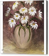 Daisy Delight Acrylic Print by Nancy Edwards