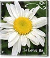 #daisy #doodle #helovesme #flower Acrylic Print