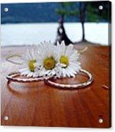 Daisy Unity Rings Acrylic Print