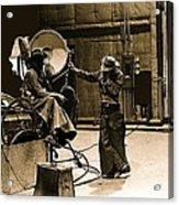 Dakota Homage #1 1945 Cowboy Extras Sound Stage Old Tucson Arizona Acrylic Print