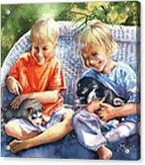 Dakotas Puppies Acrylic Print