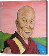 Dalai Lama Portrait Acrylic Print by Erik Franco