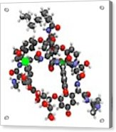Dalbavancin Glycopeptide Antibiotic Drug Acrylic Print