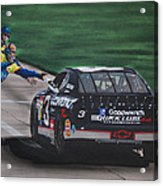 Dale Earnhardt Wins Daytona 500-pit Road Hand Shake Acrylic Print