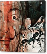 Dali And His Cat Acrylic Print
