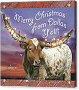 Dallas Christmas Card Acrylic Print