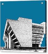 Dallas Skyline City Hall - Steel Acrylic Print