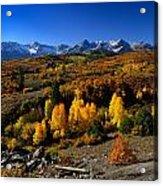 Dallas Divide Fall Colors Acrylic Print